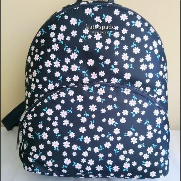 Kate spade karissa floral large backpack wristlet